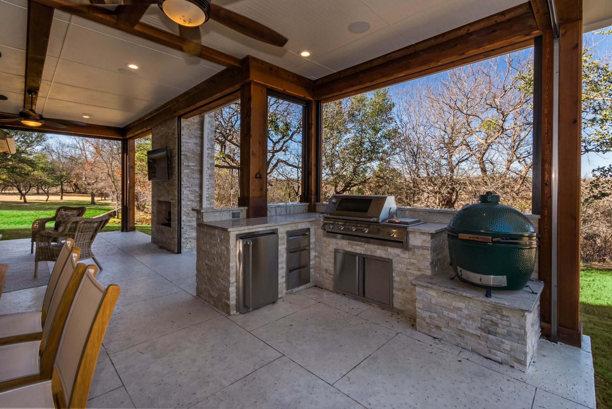Outdoor Living Space - Tired Of A Boring Backyard? We Can ... on Outdoor Kitchen Living Spaces id=22643