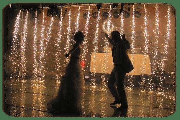 Pirotecnia Fria en Baile Nupcial