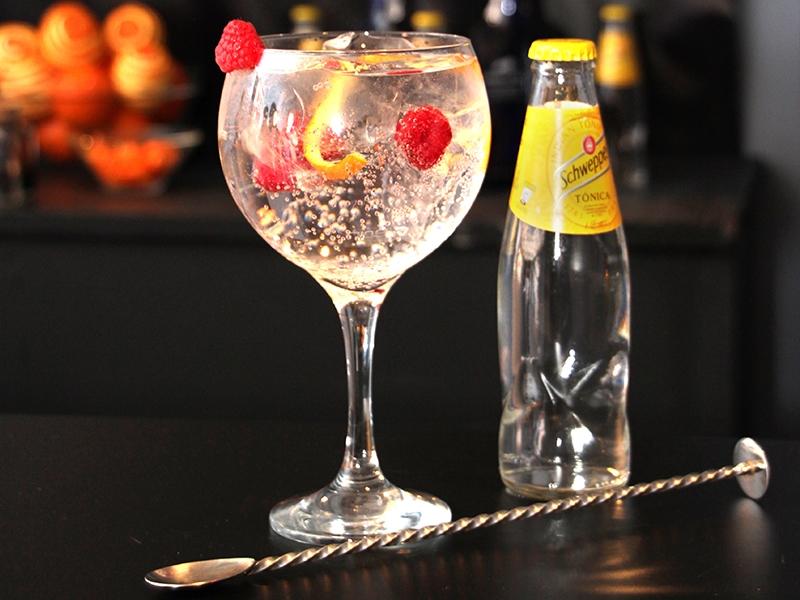 Copa de una Barra de Gin&Tonic