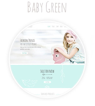 Baby Green Colored Theme Demo