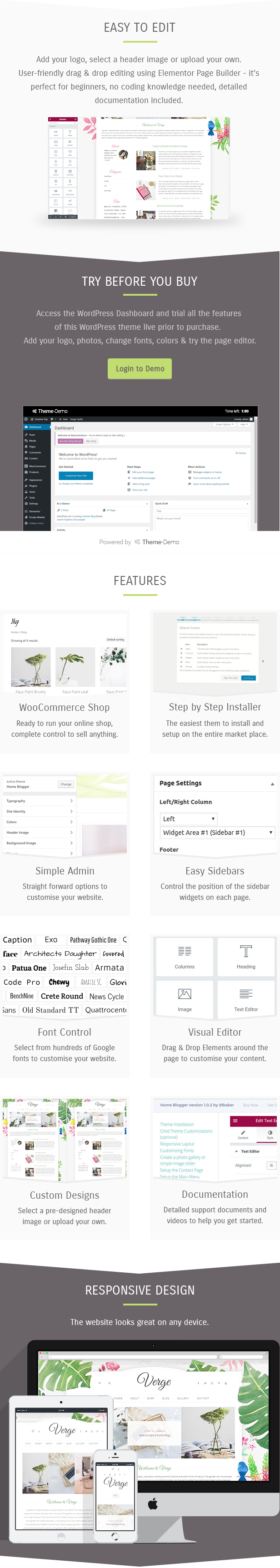 Easy to edit WordPress theme