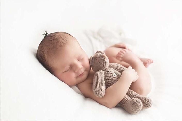 Paisley photographer - newborn baby with his bear