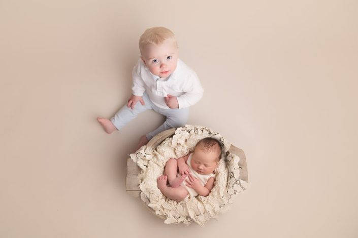 Baby Photo Shoot Glasgow - sibling picture