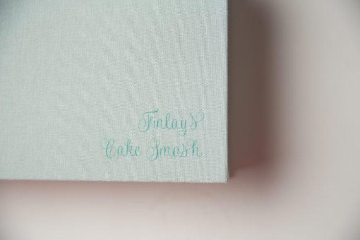 1st birthday cake smash glasgow - personalised print box
