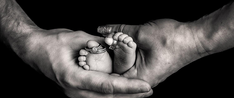 Newborn Photographer Glasgow - wedding rings