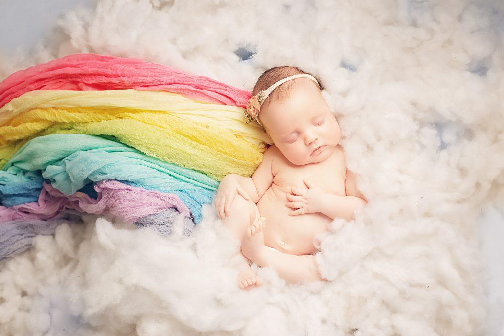 Newborn Baby Rainbow