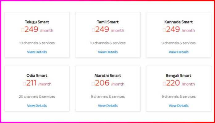 Tata Sky 249 Pack - Smart Packs Channel List & Price For All Language