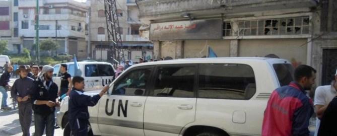 Angriff auf syrische Soldaten neben UN Beobachtern