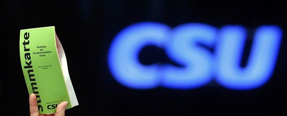 Die CSU vor dem Aus
