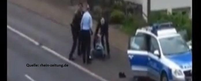 Beamte prügeln in Koblenz nach Festnahme auf Mann ein