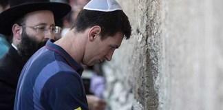 Messi und Fabregas besuchen Klagemauer