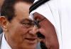 König Abdullah und Husni Mubarak. Saudi-Arabien unterstützt den Putsch in Ägypten.