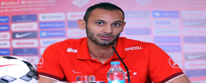 Ömer Toprak auf der Pressekonferenz gestern zum Nationalspiel gegen die Niederlande - WM Qualifikationen