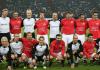Die ehemaligen Fußballspieler der deutschen und türkischen Nationalelf im Benefizspiel - dpa