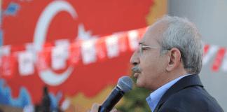 Kemal Kılıçdaroğlu in einem Meeting seiner Partei CHP - dha