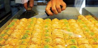 Die türkische Süßspeise Baklava.