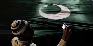 A supporter of the political and religious party jamaat-e-islami - reuters