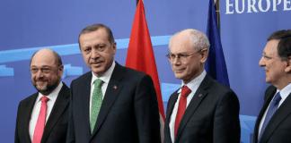 Martin Schulz, Recep Tayyip Erdogan, Herman van Rompuy und Jose Manuel Barroso