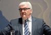 Bundesaußenminister Frank-Walter Steinmeier (SPD) spricht am 23.01.2014 in Berlin während der Amtsübergabe der Staatssekretäre im Auswärtigen Amt.