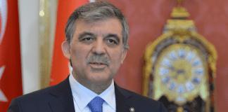 Der türkische Staatspräsident bei einer Rede in Ungarn.
