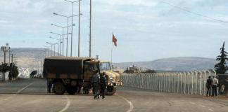 Die türkisch-syrische Grenze bei Kilis.