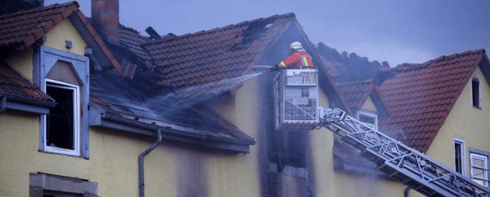 Feuerwehrmann in Backnang.
