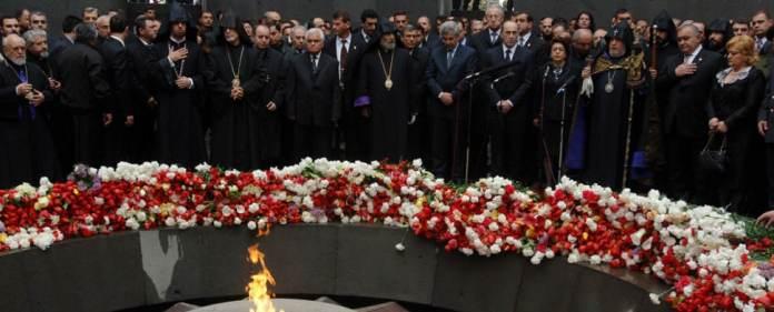 Armenier gedenken im Jahr in Jerewan dem angeblichen Genozid von 1915.