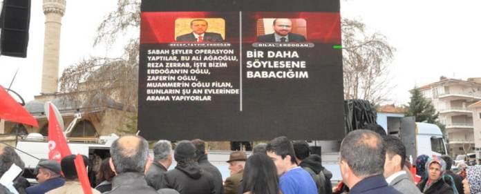 Der türkische Premierminister Recep Tayyip Erdoğan hat am gestrigen Dienstag erstmals implizit die Echtheit der Aufnahme eines Gesprächs zwischen ihm und seinem Sohn Bilal vom 17. Dezember, dem Tag des Bekanntwerdens der Korruptionsaffäre im Umfeld der Regierung, eingeräumt.