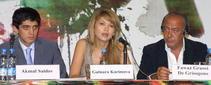 In der Mitte die Tochter des usbekischen Präsidenten Islam Karimow.