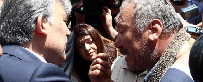 Der türkische Staatspräsident Abdullah Gül in Soma.