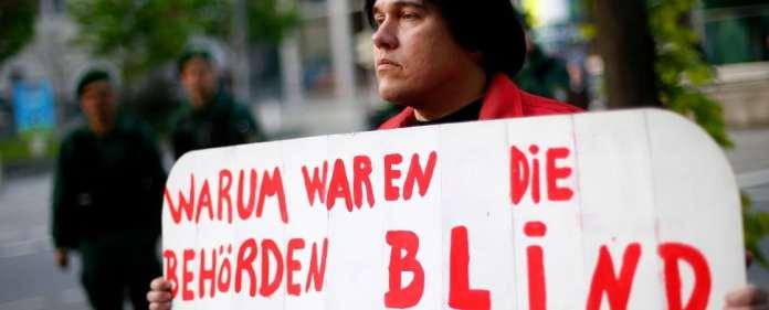Protest gegen den NSU und die Ermittlungspannen.