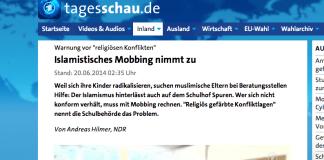 """Das ARD-Nachtmagazin warnt in einer Video-Reportage vor """"religiösen Konflikten"""" an Hamburger Schulen und stellt fest, dass """"islamistisches Mobbing"""" zugenommen habe. Das riecht gewaltig nach einer neuen """"Integrationsdebatte""""."""