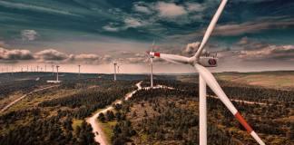 Windkraftanlagen in Gaziantep, Türkei.