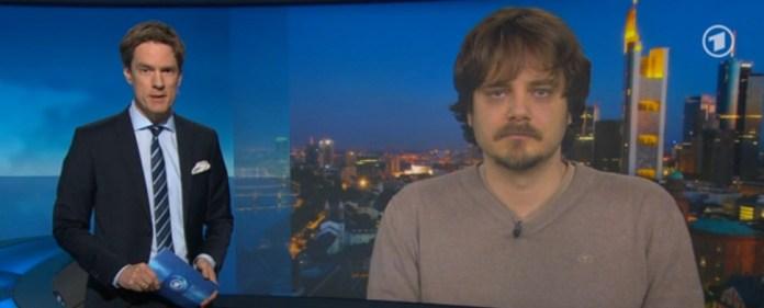 Titanic-Chefredakteur Tim Wolff im ARD-Nachtmagazin.