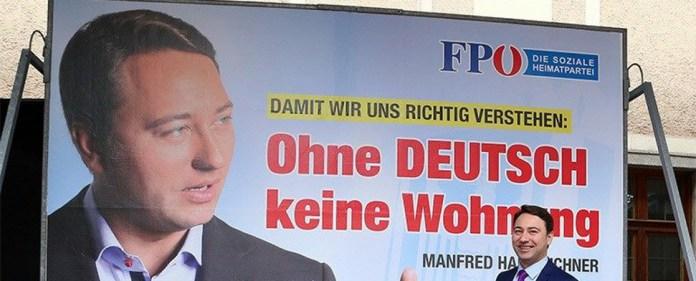 Wahlplakat in Österreich: