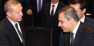 Hakan Fidan und Recep Tayyip Erdoğan