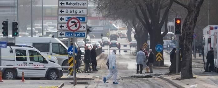 Anschlagsort in Ankara