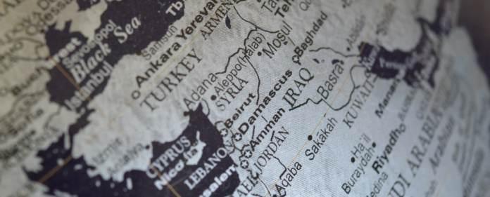 Karte des Nahen Osten