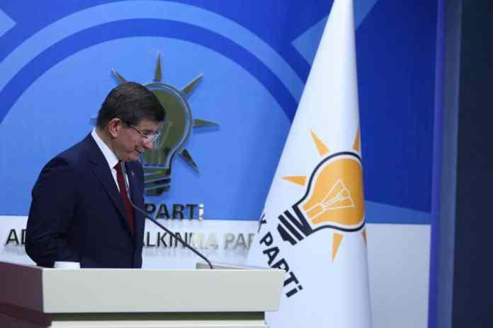 Der scheidende türkische Premierminister Ahmet Davutoğlu.