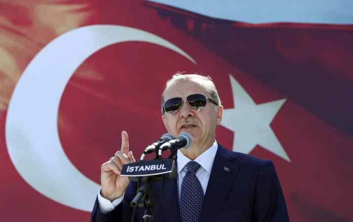 Der türkische Präsident Recep Tayyip Erdogan bei einer Rede.