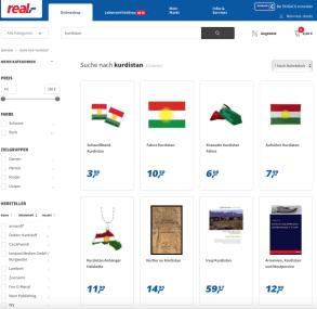 Supermarkt Real,- schweigt zu Kurdistan-Produkten im Onlineshop