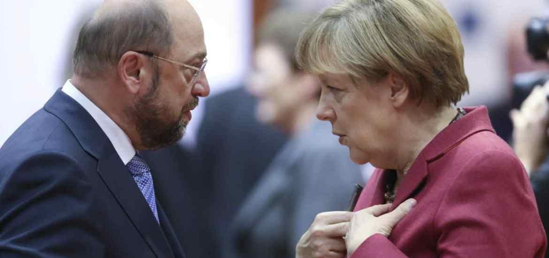 Martin Schulz und Angela Merkel - Alles neu, alles kompliziert