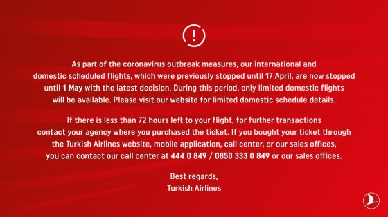 Turkish Airlines Corona Korona Flüge