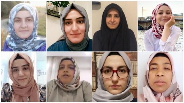 Diese acht Frauen machten die Zwangsentkleidung bei der polizeilichen Durchsuchung publik. Foto: Twitter