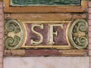 Decorative tile, South Ferry subway station, Manhattan (Heins & LaFarge, 1905)