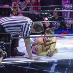 Sabre loses via pinfall and is in disbelief