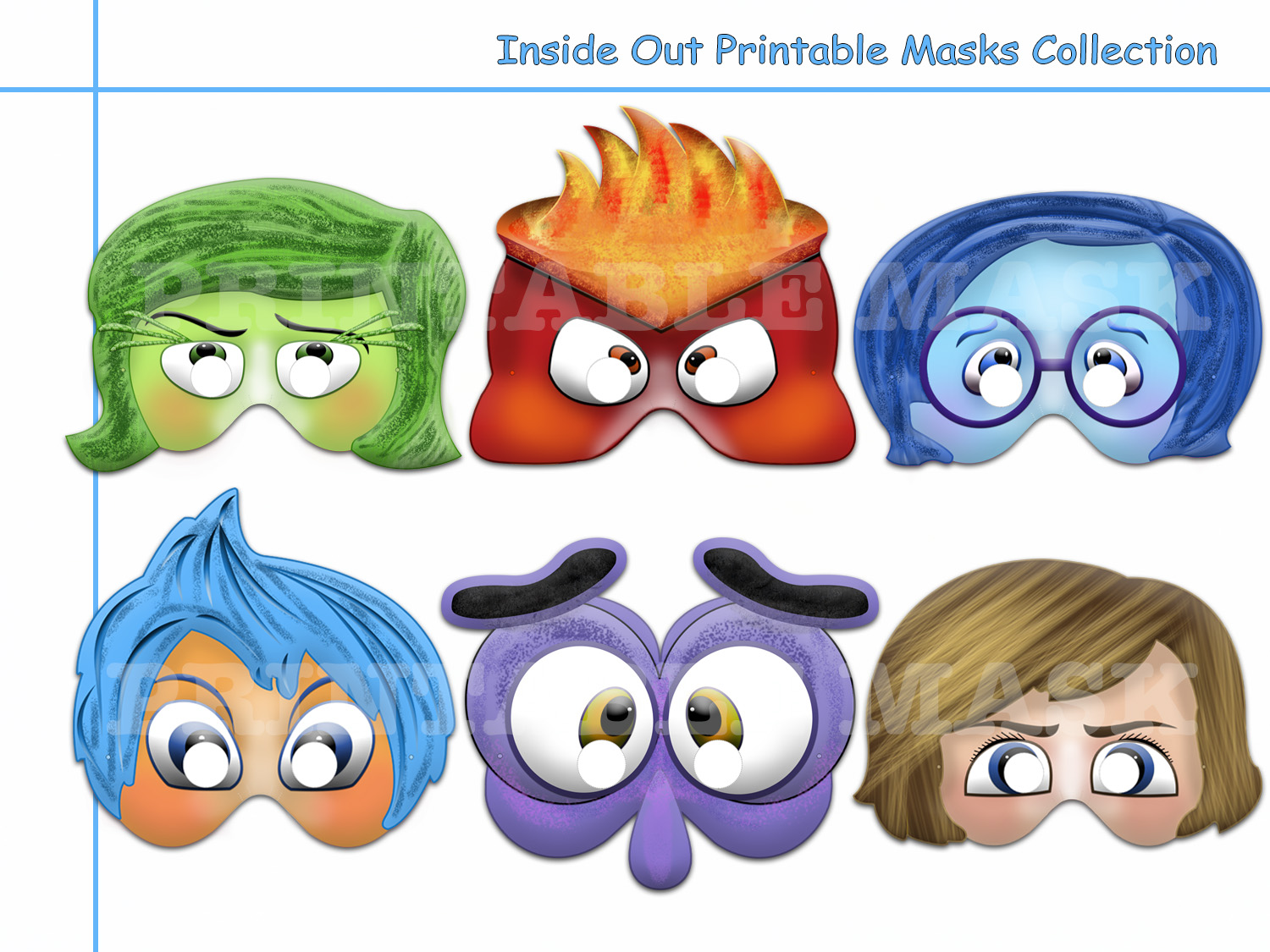 Unique Inside Out Emotions Printable By Holidaypartystar