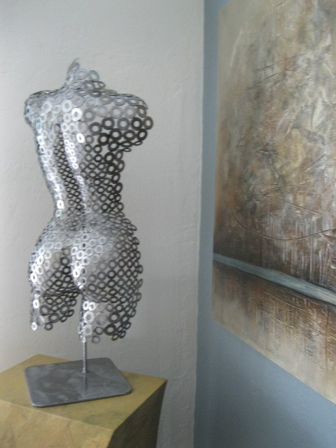 Abstract Free Standing Sculpture By Holly By Only Art
