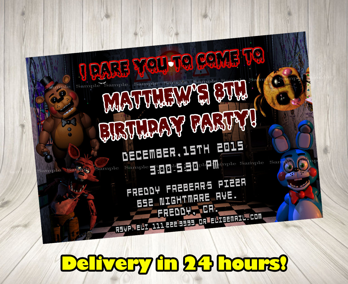 five nights at freddy s invitation five nights at freddy s birthday invitation 5 nights at freddy s party printables fnaf invitation