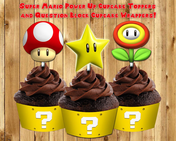 Printable Super Mario Cupcake Toppers By Instbirthday On